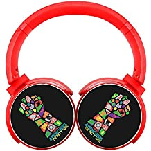 6Dian Avengers Infinity War Pop Art Headphones Over-ear Stereo Fold Wireless Bluetooth Earphone Red