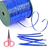 Glarks 350 Yard Blue Metallic Twist Ties for Bread Candy Bag Parties Decorative Ties (Blue)