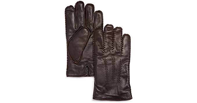 cdbf22f5c304 Polo Ralph Lauren Men`s Leather Cashmere Touch Screen Gloves (Circuit Brown  (6G0099