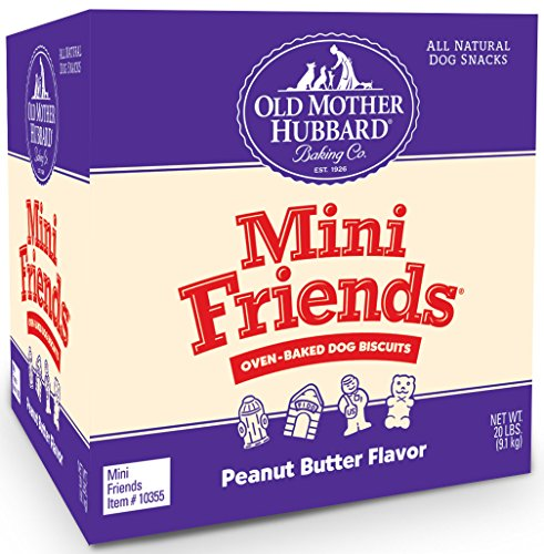Old Mother Hubbard Classic Crunchy Natural Dog Treats, Mini Friends Mini Biscuits, 20-Pound ()