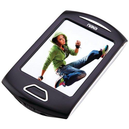 NAXA - 4GB 2.8IN MEDIA PLYR SIL