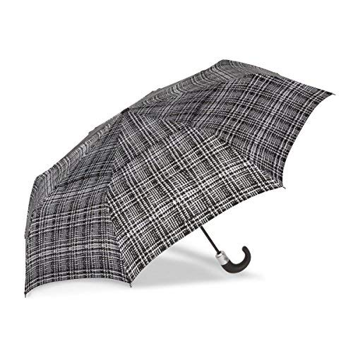 ShedRain WindPro Vented Auto Open/Auto Close Compact Print Umbrella: Harris Check ()
