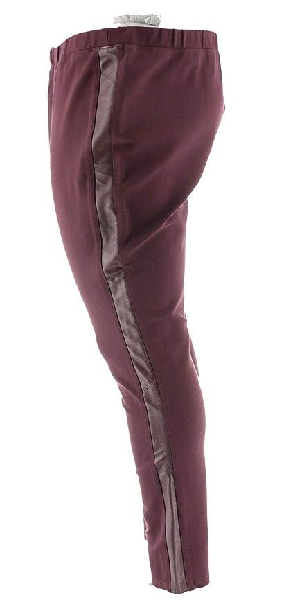 d5eda4297340d Halston Ponte Pull-On Leggings Leather Tuxedo Stripe A262980 at Amazon  Women's Clothing store: