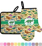 RNK Shops Dinosaurs Oven Mitt & Pot Holder (Personalized)