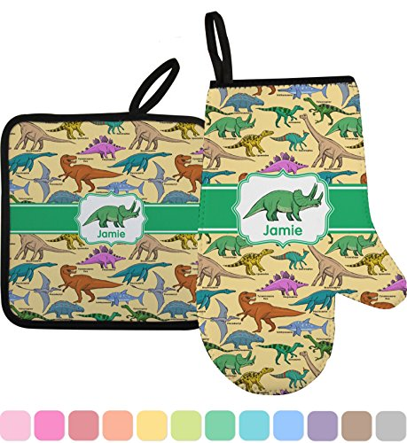 RNK Shops Dinosaurs Oven Mitt & Pot Holder (Personalized) by RNK Shops