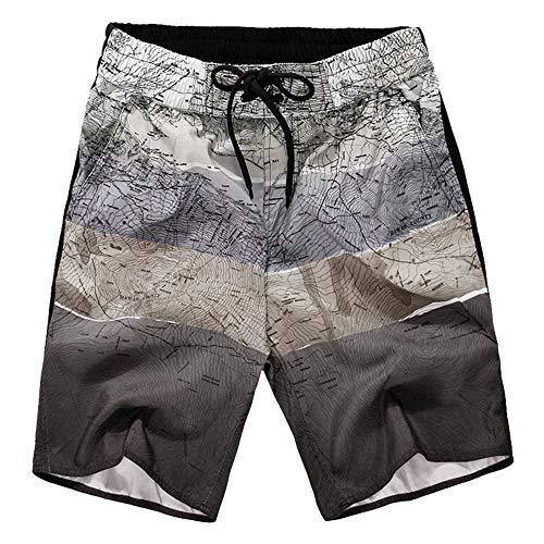 Men 's Loose Shorts,Male Summer Drawstring Beach Pant Plus Size Elastic Waistband Swimwear Bathing Suits