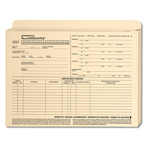 ComplyRight Employee Envelo-File Expandable, 25 Pack by ComplyRight