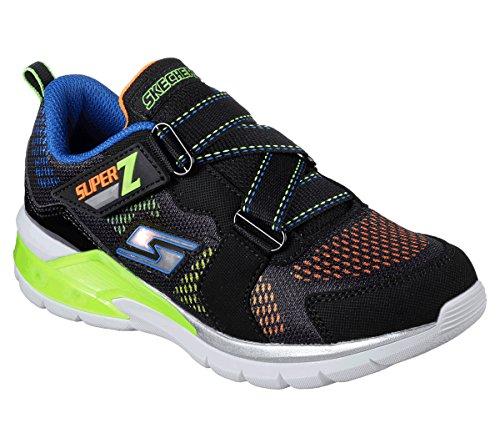 Skechers 90552N Kids' S Light: Erupters II Sneaker, Black/Lime - 9 by Skechers