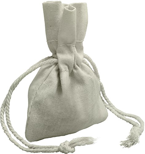 [100 Percent Cotton Muslin Drawstring Bags 24-Pack For Storage Pantry Gifts (3 x 4 - 24 pack, White)] (Australia Bag)