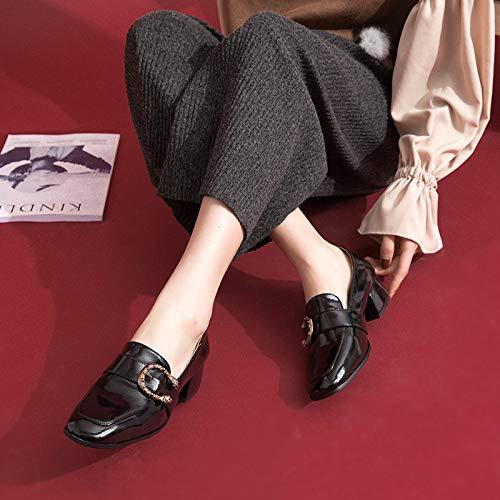 à 39 pour Nouvelles Tête Unique Chaussures Profonde Bouche d'automne Black GUANG 36 Chaussures Ronde des Version Peu Femmes Coréenne Black XING La wvqH8S4