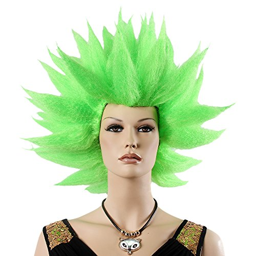 Spiked Green Cosplay Wig