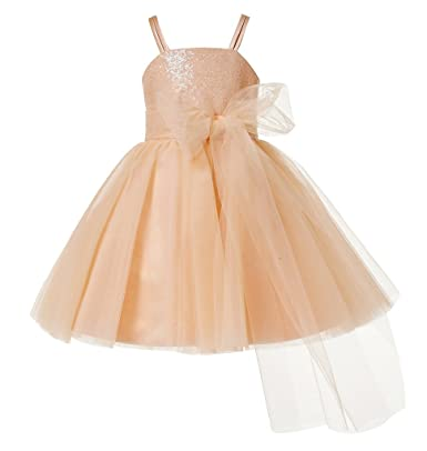 0b235a9043e thstylee Sequin Tulle Flower Girls Dresses Toddler Kids Juniors Dress Size  US 12T Blush Pink  Amazon.co.uk  Clothing