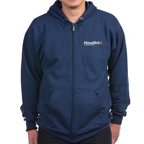 CafePress - Houdini Zip Hoodie - Zip Hoodie, Classic Hooded Sweatshirt with Metal Zipper Navy