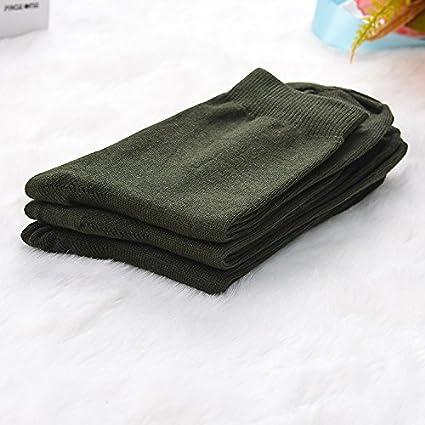 GAOLIM Hombre Calcetines Calcetines Negocios en trichol Abuela Color algodón Calcetines 5 Pares Hombres, Verde