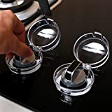 Baba Mate Clear View Stove & Oven Knob Covers- New Care Baby Child Safety & Kitchen Tools-Safety Heat-Resistant Material and Accurate Size For Small Knob -4 Count