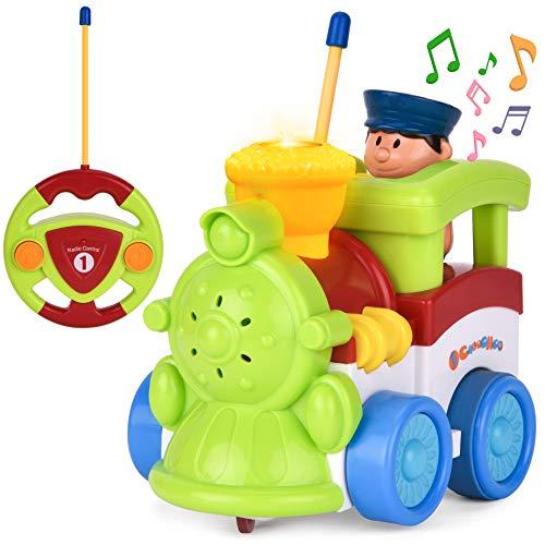 Rainbrace Remote Control Car Toy, Cartoon Radio Racing Car Music & Light Birthday Present Kids Toddlers,Green for $<!--$15.50-->