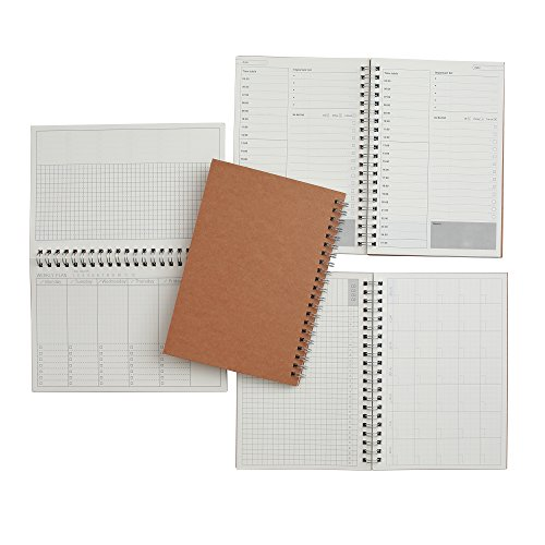 Time Management Manual and Planner - Set of Three - 48 Sheets – 130 millimeters by 190 millimeters - Daily, Weekly and Monthly Planning - Get Your Life Organized