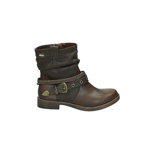 MUSTANG 55532 BOTIN AD.CORREAS 1 CUERO 36: Amazon.es: Zapatos y complementos
