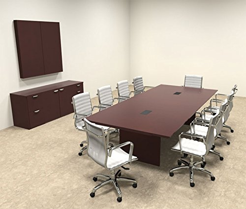 Wood Modern Rectangular Shape 10' Feet Conference Table, OF-TEC-C6