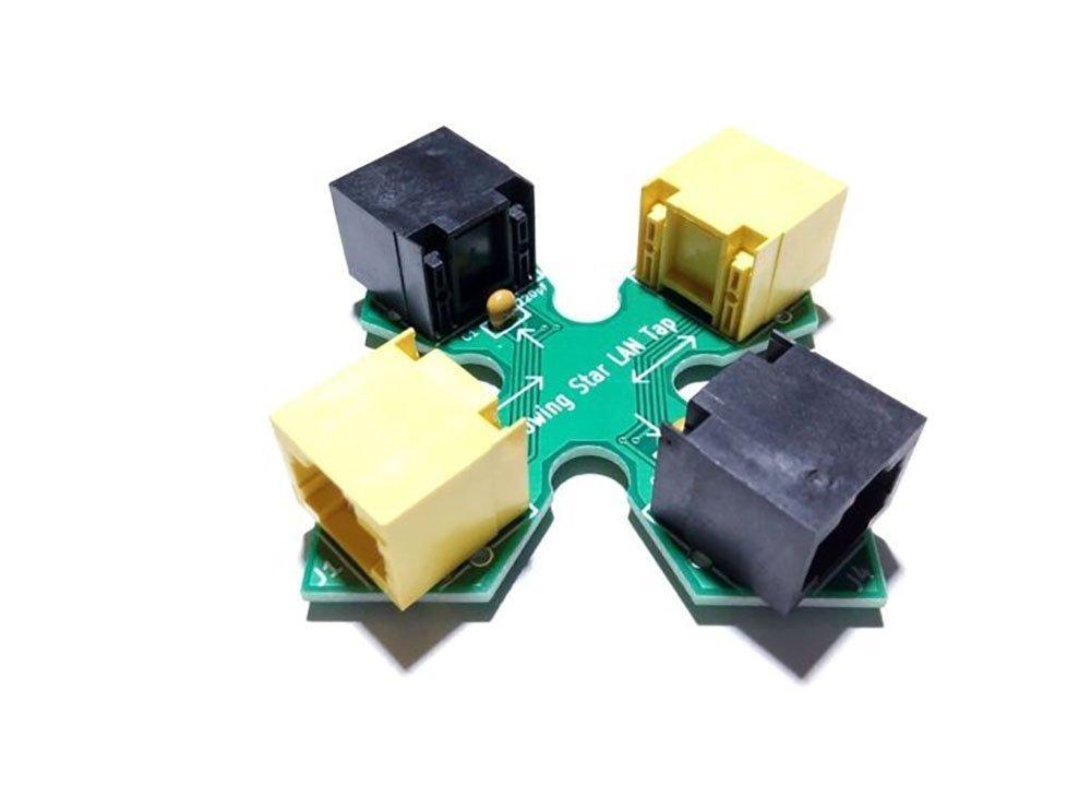 Throwing Star LAN Tap Network Packet Capture Mod 100% Original Replica Monitoring Ethernet Communication Haker Tool