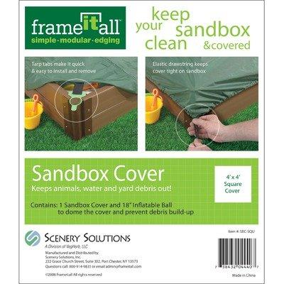Sandbox Cover - Fits Square 4x4ft Sandbox