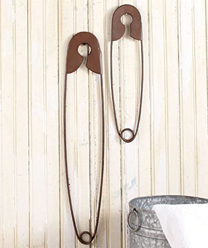 Lowest Price! Set of 2 Large Hanging Safety Pins