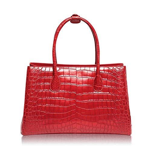 Zipper Grande Crocodile Femme Cuir Sac Sac red Ladies Sac Sacs à Dames Peau pour WWAVE Nouvelle B Main capacité xSwq1Cvz