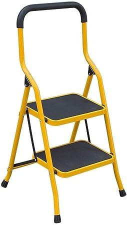 Taburete Escalera Cubierta Plegable Escalera Subida Escalera Plegable con Seguridad Pasamanos Antideslizante de la Banda de Rodadura 2 Taburete de Paso de la Carga máxima de 150 kg: Amazon.es: Hogar