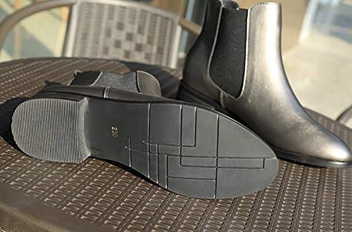 Grey Shoes Low Martin Heels QZUnique Retro British Boots Style Women's Boots vzPzgwT