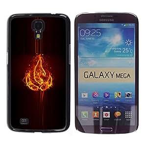 A-type Arte & diseño plástico duro Fundas Cover Cubre Hard Case Cover para Samsung Galaxy Mega 6.3 (Elemento Fuego)