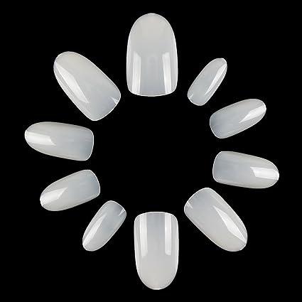 ecbasket uñas acrílico uñas completo para uñas postizas corto Oval clavos para DIY arte de uñas