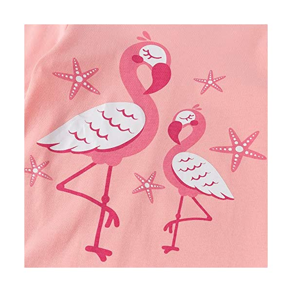 "Tkiames Bambine ""Giraffa"" 2 pezzi Pigiama a maniche lunghe per ragazze Pajama Set 100% cotone 4"