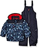 Osh Kosh Boys' Little Ski Jacket and Snowbib Snowsuit Set, Navy Print, 5/6