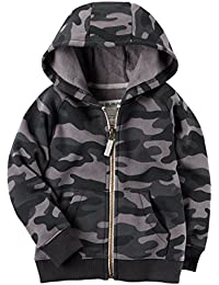 Carters Boys Classic Fleece Zip-Up Hoodie with Pockets