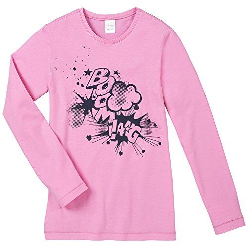Schiesser Mädchen Schlafanzugoberteil Shirt 1/1, Gr. 140, Rot (rosa 503)