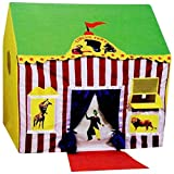 crazy toys Kid's Jumbo Size Circus Tent House (Multi Color)