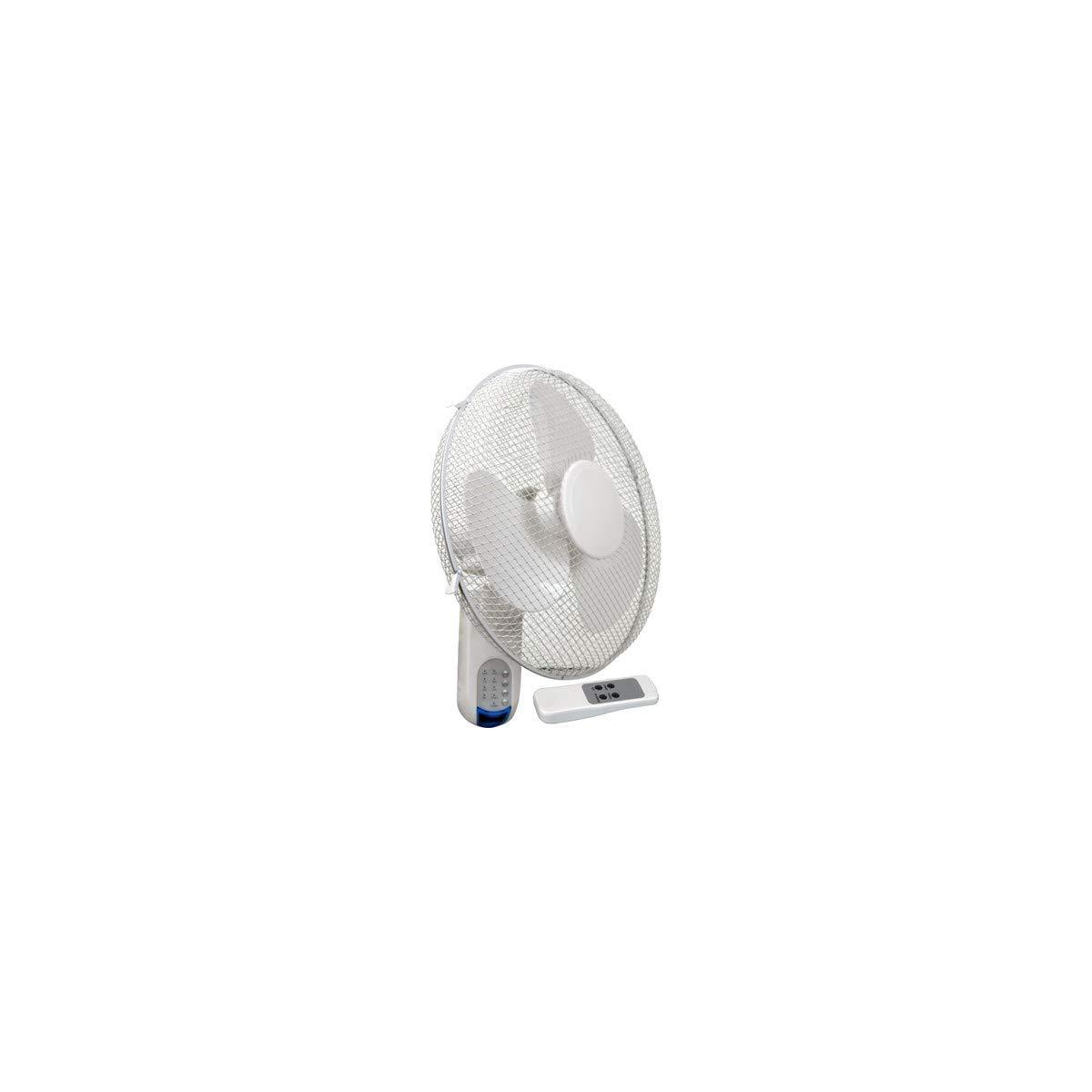 1900 m/³//h Circulador de aire mural 16WF Ventilador Mando Cornwall 40cm