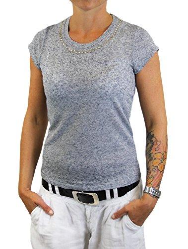 VERO MODA - Camiseta - Manga corta - para mujer gris claro
