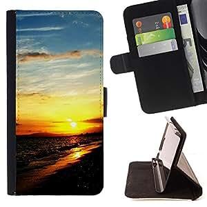 - Sunset Beautiful Nature 111 - - Monedero PU titular de la tarjeta de cr????dito de cuero cubierta de la caja de la bolsa FOR Apple Iphone 5C RetroCandy