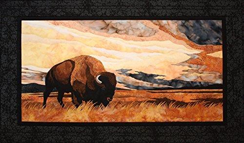 Into The Storm Buffalo Bison Toni Whitney Designs Applique Quilt Pattern - Applique Patterns Animals