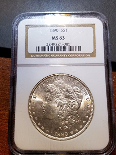 Ngc Slabbed - 1890 Morgan Dollar MS 63 NGC