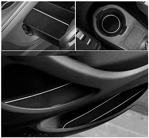 Cdefg Für Benz Smart Forfour W453 Auto Innere Türschlitz Rutschfest Anti Staub Becherhalter Matte Arm Box Aufbewahrung Pads Weiß Auto