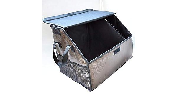 Axiba Cajas de almacenaje Cuero Auto Almacenamiento Caja Tronco Caja Plegable del Coche y Acabado de la Caja 49 * 30 * 33 cm: Amazon.es: Hogar