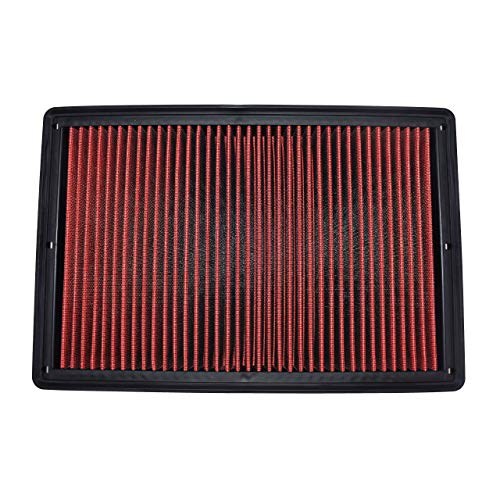 A-Team Performance Engine Air Filter, Washable and Reusable Compatible with 2002-2019 Dodge Ram Truck V6/V8/V10 (1500, 2500, 3500, 4500, 5500)