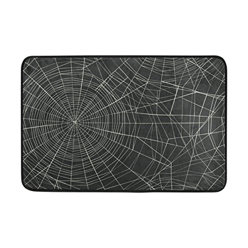 My Little Nest Happy Halloween Spider Web Funny Area Rug For Kids Bedroom Dining Living Room Entry Way 23.6