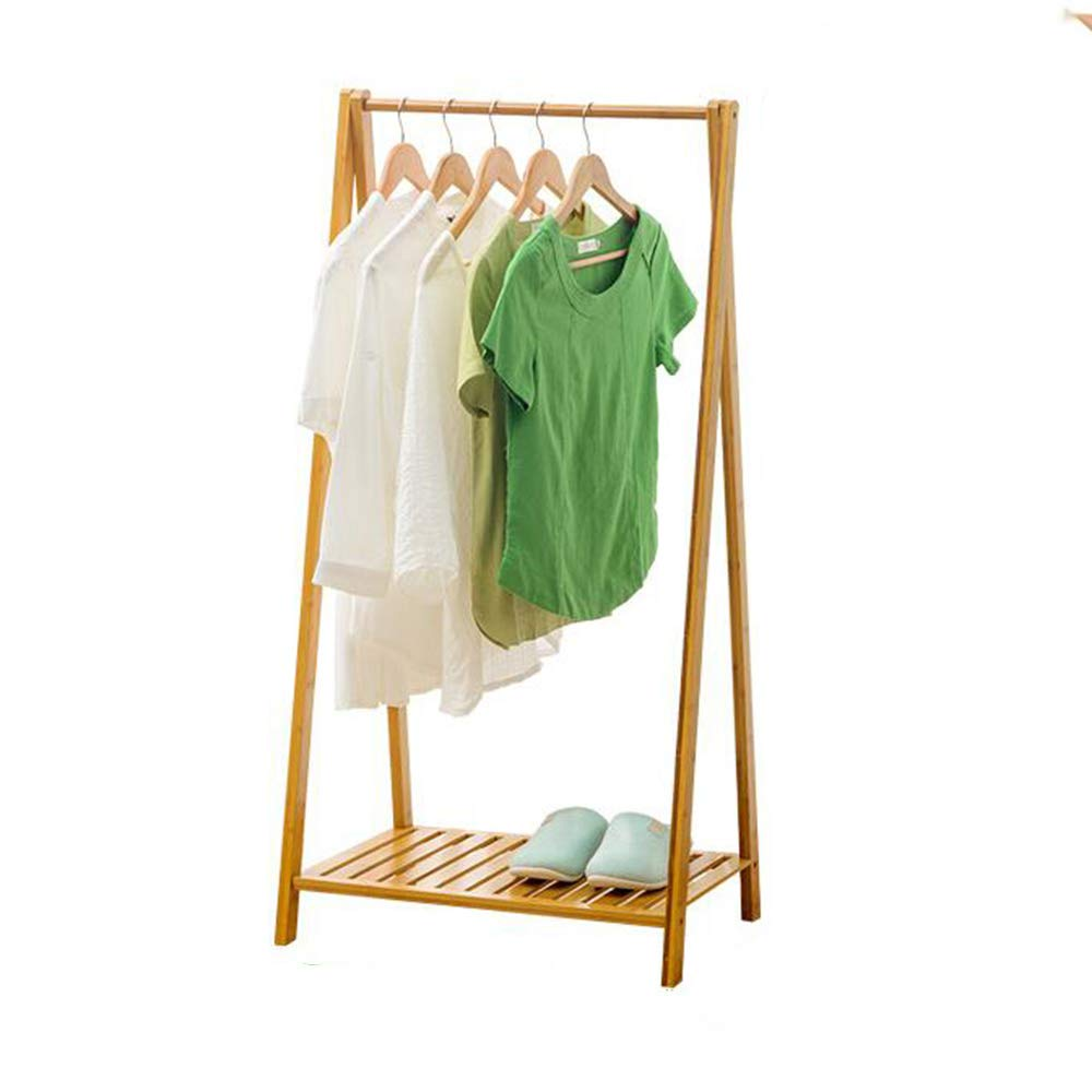 Byx- Wooden Coat Rack,Garment Rack Coat Hanger Coat Rack with Storage Shelves with Single Rod for Home Office Bedroom -Clothes Drying Rack by Byx-