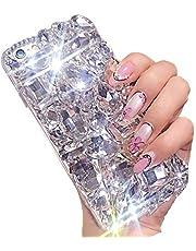 Miagon Sparkle Jewelry Case for Samsung Galaxy S20 Ultra,3D Handmade Stunning Stones Glitter Crystal Rhinestone Bling Full Diamond Shining Cover Bumper,Clear