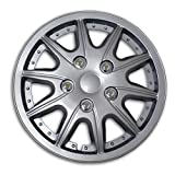 hubcaps nissan altima 2010 - TuningPros WC2-16-5004-S 16-Inches-Silver Improved Type II Hubcaps Wheel Skin Cover Set of 4