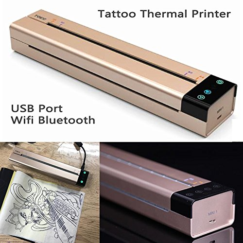 (Tattoo Transfer Copier Printer Machine Thermal Stencil Maker Tattooing + 20X Papers 2018 New Product 4-10 Days Shipping)