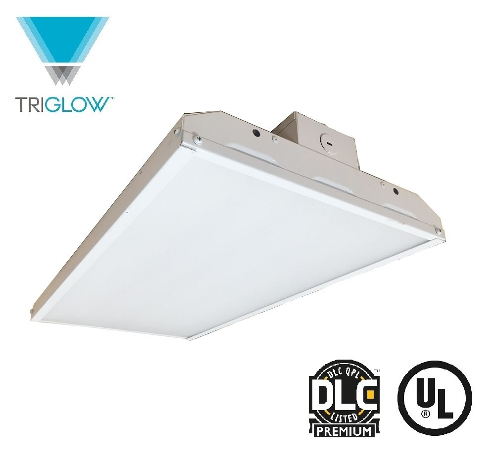 TriGlow T82331 2FT 110-Watt LED Linear High Bay, 14410 Lumens, 5000K (Daylight White Color) DIMMABLE 2' Fixture, DLC Premium Approved